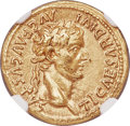 Ancients:Roman Imperial, Ancients: Tiberius (AD 14-37). AV aureus (19mm, 7.74 gm, 1h). NGCChoice AU 5/5 - 4/5, edge marks....