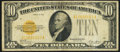 Small Size:Gold Certificates, Fr. 2400 $10 1928 Gold Certificate. Fine.. ...