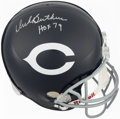 Football Collectibles:Helmets, Dick Butkus Signed Chicago Bears Full Sized Helmet....