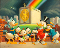 Carl Barks The Wadfather Painting CB-OIL 21 Original Art (1972)