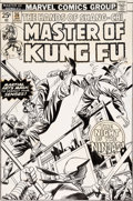 Original Comic Art:Covers, Gil Kane and Mike Esposito Master of Kung Fu #36 CoverShang-Chi Original Art (Marvel, 1976)....