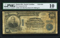 National Bank Notes:North Carolina, Statesville, NC - $10 1902 Plain Back Fr. 626 The Commercial NB Ch. # 9335 PMG Very Good 10.. ...
