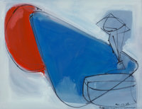 Hans Hofmann (1880-1966) Untitled, 1946 Gouache and pen and ink on paper 17-1/2 x 22-1/2 inches (