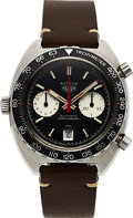 Timepieces:Wristwatch, Heuer, Vintage Autavia Ref. 1163V (Viceroy) Automatic Chronograph,Fourth Execution, Stainless Steel, Circa 1972. ....