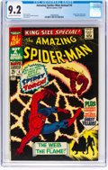 Silver Age (1956-1969):Superhero, The Amazing Spider-Man Annual #4 (Marvel, 1967) CGC NM- 9.2Off-white to white pages....