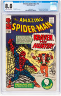 Silver Age (1956-1969):Superhero, The Amazing Spider-Man #15 (Marvel, 1964) CGC VF 8.0 Cream tooff-white pages....