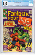 Silver Age (1956-1969):Superhero, Fantastic Four #25 (Marvel, 1964) CGC VF 8.0 White pages....