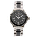 Estate Jewelry:Watches, Tag Heuer Lady's Diamond, Stainless Steel, Ceramic Formula 1 Watch . ...
