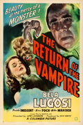 Movie Posters:Horror, The Return of the Vampire (Columbia, 1943). Very Fine- on ...