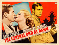 Movie Posters:Adventure, The General Died at Dawn (Paramount, 1936). Fine on Paper....