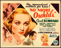 Movie Posters:Drama, No More Orchids (Columbia, 1932). Very Fine. Title...