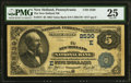 National Bank Notes:Pennsylvania, New Holland, PA - $5 1882 Value Back Fr. 574 The New Holland NB Ch. # (E)2530 PMG Very Fine 25.. ...