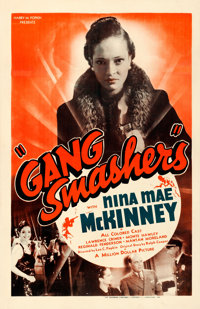 "Gang Smashers (Million Dollar Distributing Co., 1938). Fine+ on Linen. One Sheet (26.5"" X 41"")"
