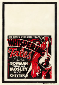 "Whispering Tales (Sack Amusement Enterprises, 1930s). Fine+ on Linen. One Sheet (28"" X 41"")"