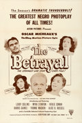 Movie Posters:Black Films, The Betrayal (Astor Pictures, 1948). Very Fine- on Paper.