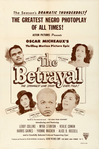 "The Betrayal (Astor Pictures, 1948). Very Fine- on Paper. One Sheet (27.25"" X 41"")"