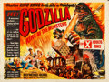 "Movie Posters:Science Fiction, Godzilla (Eros, 1956). Folded, Fine/Very Fine. British Quad (30"" X40"").. ..."