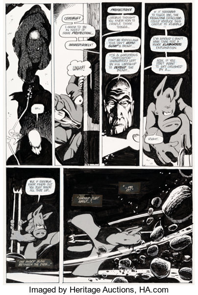 Original Comic Art:Panel Pages, Dave Sim Cerebus #25 Story Page 12 Original Art(Aardvark-Vanaheim, 1981)....