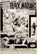 Original Comic Art:Splash Pages, George Tuska and Billy Graham Hero for Hire #5 Splash Page 1 Luke Cage/Power Man Original Art (Marvel, 1973)....