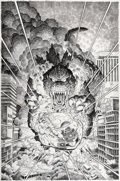 Original Comic Art:Illustrations, Arthur Adams Dark Horse Classics: Terror of Godzilla #5Cover Original Art (Dark Horse Comics, 1998)....