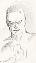 Original Comic Art:Sketches, David Mazzucchelli - Daredevil Sketch Original Art and Correspondence Group of 3 (1986)....
