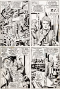 Original Comic Art:Panel Pages, Jack Kirby and Syd Shores Captain America #109 Story Pages14 and 15 Original Art (Marvel, 1969).... (Total: 2 Original Art)