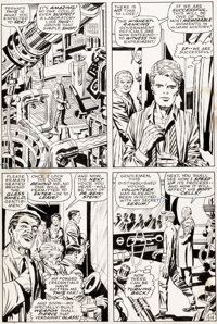 Jack Kirby and Syd Shores Captain America #109 Story Pages 14 and 15 Original Art (Marvel, 1969).... (Total: 2 Original...