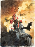 Original Comic Art:Covers, Mike Mignola Hellboy: Oddest Jobs Cover Painting Original Art (Dark Horse, 2008)....