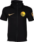 Basketball Collectibles:Others, 2018 Andre Iguodala NBA Finals Game Worn Golden State WarriorsWarm-up Jacket....