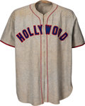 Baseball Collectibles:Uniforms, Circa 1950 Hollywood Stars (PCL) Game Worn Jersey & Pants....(Total: 2 items)