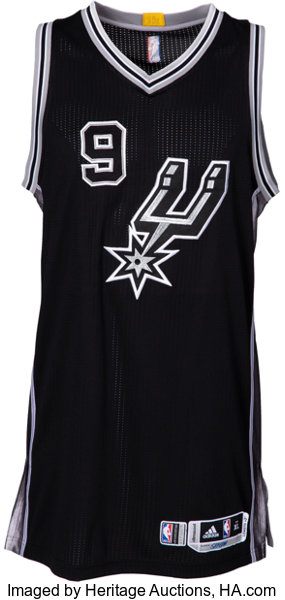 reputable site 7abc8 9012e 2015-16 Tony Parker Game Worn San Antonio Spurs Jersey with ...