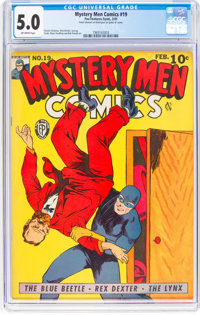 Mystery Men Comics #19 (Fox, 1941) CGC VG/FN 5.0 Off-white pages
