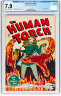 Golden Age (1938-1955):Superhero, The Human Torch #27 (Timely, 1947) CGC FN/VF 7.0 Cream to off-white pages....