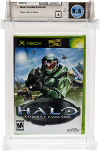 Halo: Combat Evolved (Xbox, Microsoft, 2001) Wata 8.5 A (Seal Rating) Variant: Black Label
