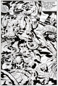 Original Comic Art:Splash Pages, Jack Kirby and Mike Thibodeaux Captain Victory and the GalacticRangers #13 Page 15 Original Art (Pacific, 1983)....