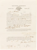Military & Patriotic:Civil War, Civil War: African-American Enlistment Papers of Amos Phillips....