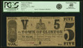 Obsoletes By State:Louisiana, Clinton, LA- Town of Clinton $5 June 21, 1862 PCGS Apparent Extremely Fine 40.. ...