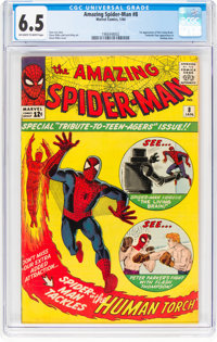 The Amazing Spider-Man #8 (Marvel, 1964) CGC FN+ 6.5 Off-white to white pages