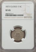 Shield Nickels, 1873 5C Closed 3, Doubled Die Obverse, FS-103, XF45 NGC. NGC Census: (0/1). PCGS Population: (0/2). XF45. ...