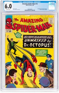 The Amazing Spider-Man #12 (Marvel, 1964) CGC FN 6.0 Off-white pages