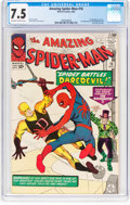 Silver Age (1956-1969):Superhero, The Amazing Spider-Man #16 (Marvel, 1964) CGC VF- 7.5 Off-white towhite pages....
