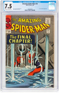 Silver Age (1956-1969):Superhero, The Amazing Spider-Man #33 (Marvel, 1966) CGC VF- 7.5 Off-white towhite pages....