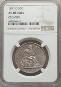 Seated Half Dollars, 1851-O 50C -- Cleaned -- NGC Details. AU. NGC Census: (0/39). PCGS Population: (8/61). CDN: $725 Whsle. Bid for problem-fre...