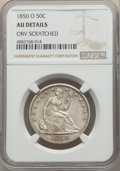 Seated Half Dollars, 1850-O 50C -- Obverse Scratched -- NGC Details. AU. NGC Census: (7/64). PCGS Population: (17/103). CDN: $300 Whsle. Bid for...