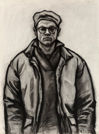 William George Beckman (American, 1942) Self-Portrait in Down Jacket, 1983 Charcoal on paper 60-1