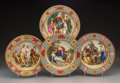 Ceramics & Porcelain, Four Royal Vienna-Style Partial Gilt Porcelain Plates, Vienna, circa 1900. Marks: (beehive/shield). 9-3/4 inches (24.8 cm). ... (Total: 4 Items)
