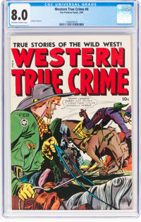 Western True Crime #4 (Fox Features Syndicate, 1949) CGC VF 8.0 Off-white to white pages