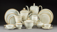 A One Hundred Sixty-Piece Assembled Rosenthal, Hutschenreuther, and Limoges Dinner Service, 20th century Marks: (v