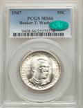 Commemorative Silver, 1947 50C Booker T. Washington MS66 PCGS. CAC. PCGS Population: (302/10). NGC Census: (150/10). CDN: $120 Whsle. Bid for pro...