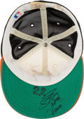 """Baseball Collectibles:Hats, 1980's Jim Palmer Game Worn & Signed Baltimore Orioles Cap with """"Gamer"""" Inscription. ..."""